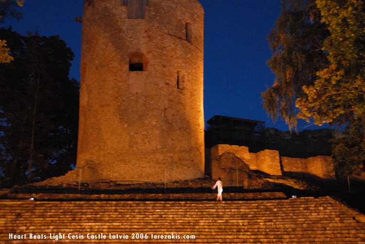Terezakis Heart Beats Light performed at Cesis Castle, Latvia 2006 © Peter Terezakis 2007 http://www.terezakis.com