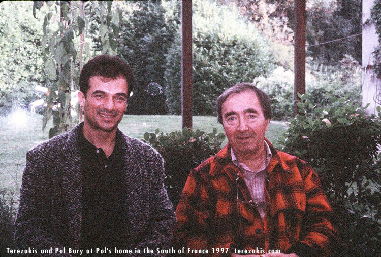 Terezakis visiting master Kinetic Artist, Pol Bury at his home in the south of France 1997 © Peter Terezakis 2007 http://www.terezakis.com