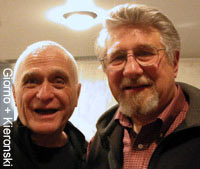 John Giorno and Robert Kieronski, artist and friend