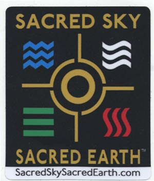 Sacred Sky Sacred Earth Stickers